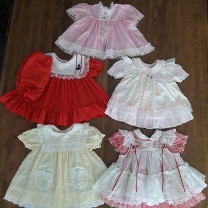 Vintage Baby Girl Dresses 3-6m/6-9m/12m
